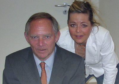 Sabine Altena mit Wolfgang Schäuble